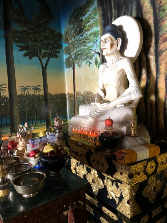 A statue of Buddha's Austerities at Sherminub Institut: a reminder of death for practitioners