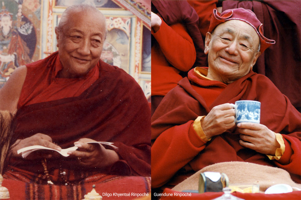 Gendun Rinpoche and Dilgo Khyentse Rinpoche